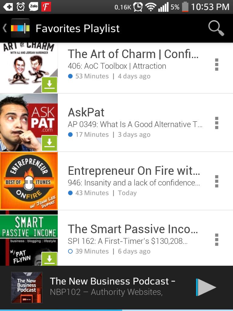Nghe các show podcast về doanh nhân