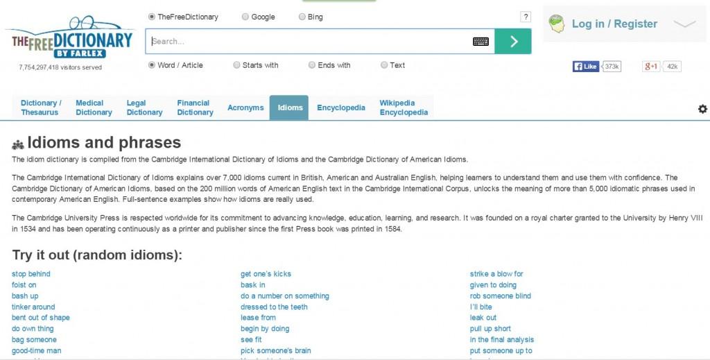 16 - idiom dictionary