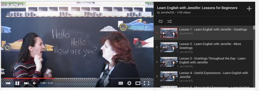 Learn English with Jenifer rất phù hợp để luyện nghe khi mất gốc tiếng anh